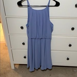 A purple/blue formal dress